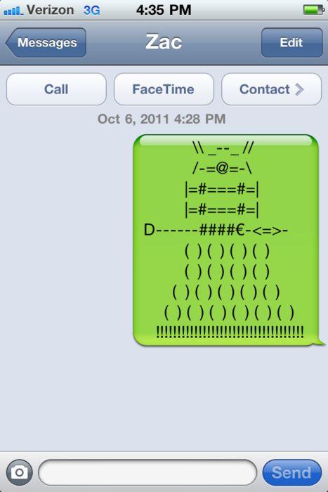 a dalek in a text!
