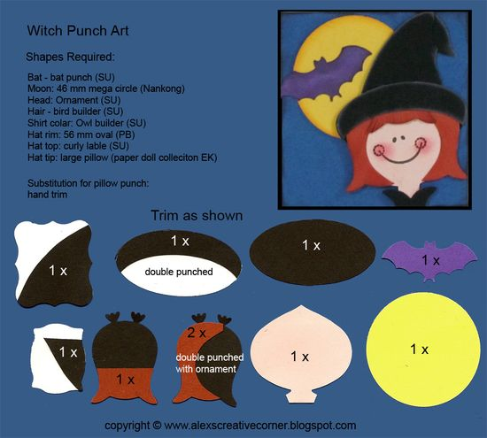 Alex's Creative Corner: Halloween Treats - Witch