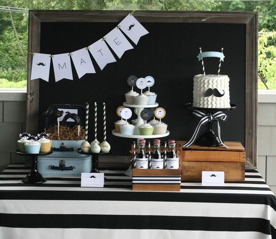 Little Man Mustache Party.  See more party ideas at CatchMyParty.com.  #tmustachepartyideas