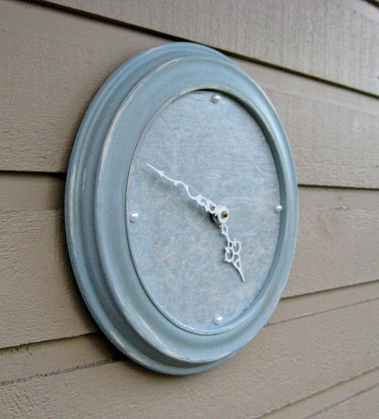 Wall clock for a shabby chic designed bedroom by jensdreamdecor, $34.50