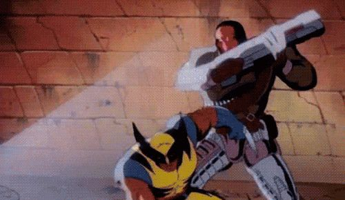 How Wolverine could only use his claws to slice robots because it was a kid's show and humans aren't allowed to get sliced.