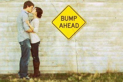 Cute idea for a pregnancy announcement photo
