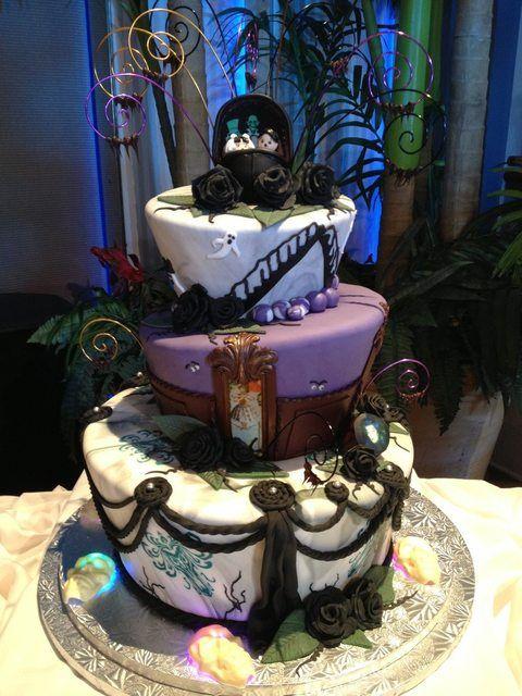 Haunted Mansion wedding cake!