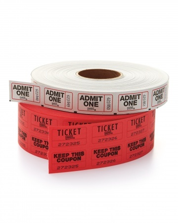 carnival party - ticket roll #red #black