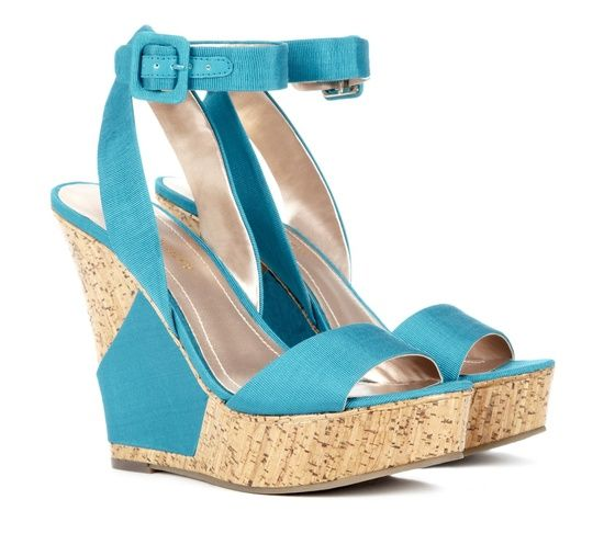 Cute Teal Wedge Shoes just in time for summer! #women #ladies #girls #fashion #shoes #sandals