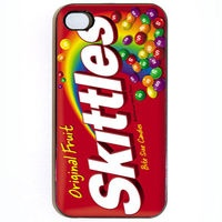 FREE SHIPPING iPhone 4 4s Case, Custom Skittles Candy Wrapper in Black or White