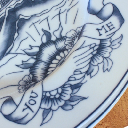 handmade tattoo porcelain