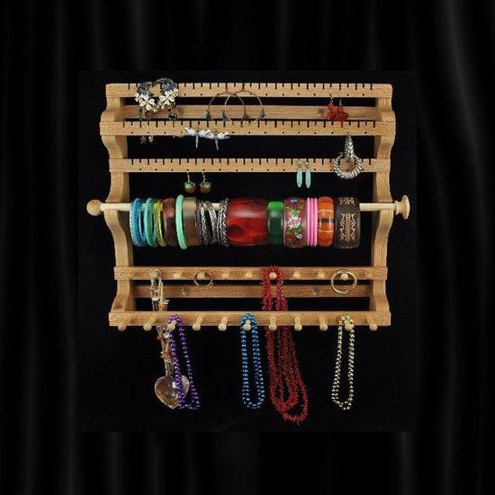 Hanging Combo Necklace Earring Bracelet Holder Storage Organizer