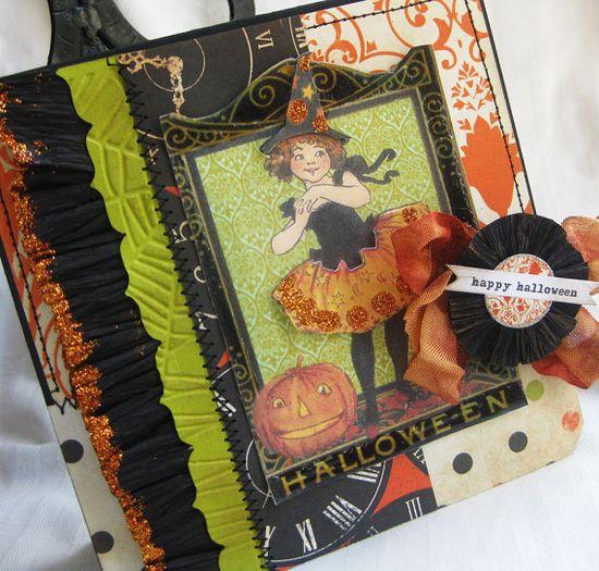 Little Halloween Witch Handmade card