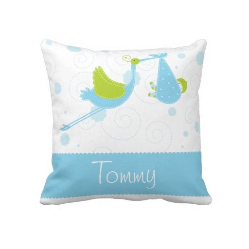 Name,Text,Blue,White,Stork,Baby Boy Throw Pillow
