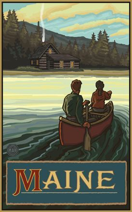 Maine travel poster
