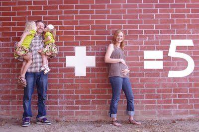 cute idea for baby announcement