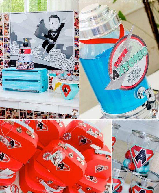 Superhero birthday party via Karas Party Ideas