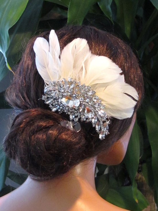 Wedding hair accessory bridal headpiece Ivory by BijouxandCouture, $76.50