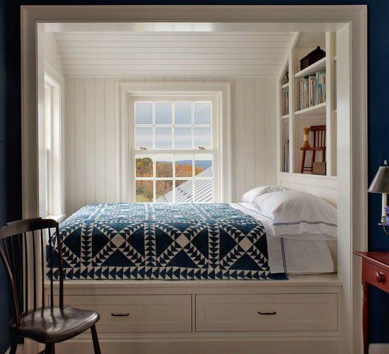 Farmhouse bed nook by John B Murray