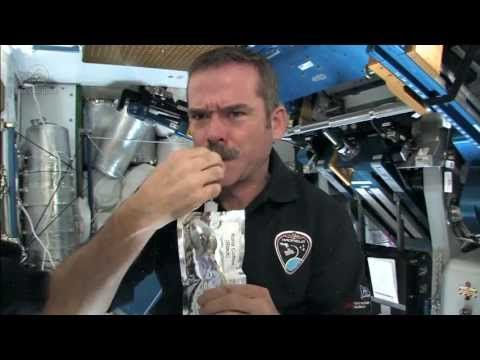 Astronaut Chris Hadfield Shows How to Make Cake & Coffee in Space