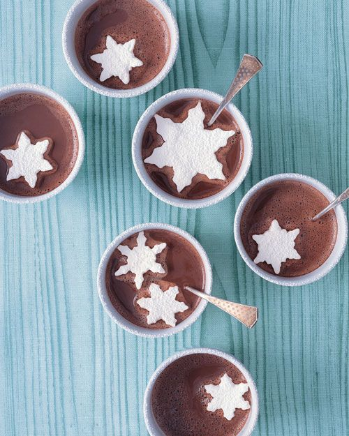 Marshmallow Snowflakes in hot cocoa
