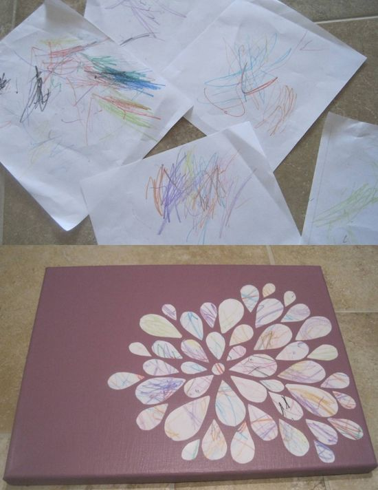 Turning Toddler Scribbles into Art. I love this idea.