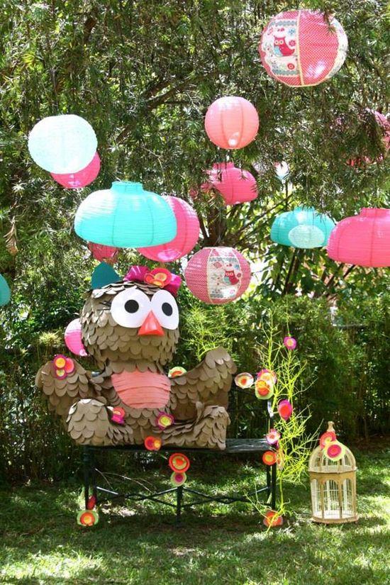 Girly Owl Party via Kara's Party Ideas