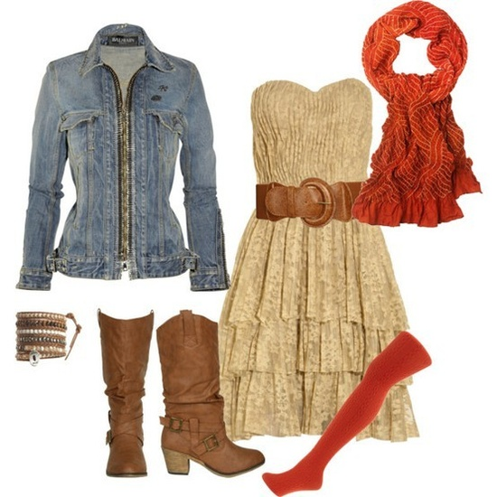 dress and boots ?