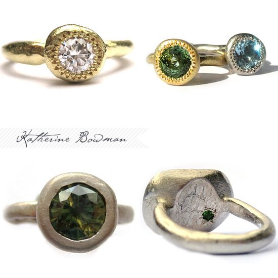 Unique engagement rings. Love the bottom right.