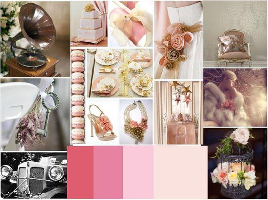 vintage soft pink wedding ideas