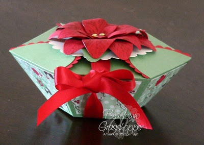 Gorgeous box using petal cone die.  Creative use of Stampin' Up! products.