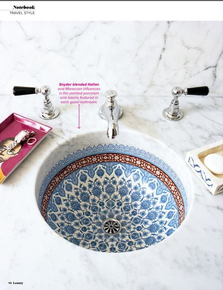 // moroccan sink