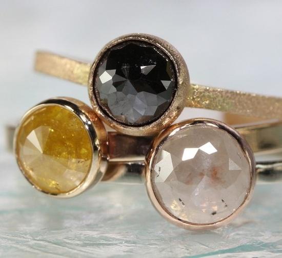 Rose Cut Diamond Ring cluster