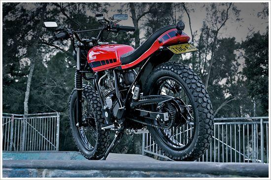 "Renegade Custom's Yamaha Scorpio - ""DesertRacer"" - Pipeburn - Purveyors of Classic Motorcycles, Cafe Racers & Custom motorbikes"