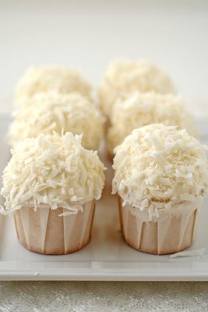 coconut cupcakes..