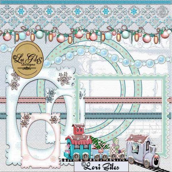 To the North Pole Kit - Digital Scrapbooking - : Vintage Nest Designs, Creative Handmade and Hand Painted