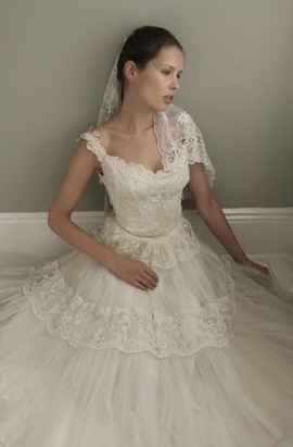 The lace of this vintage wedding dress is so beautiful