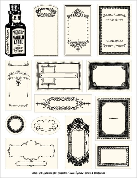 B Apothecary Labels
