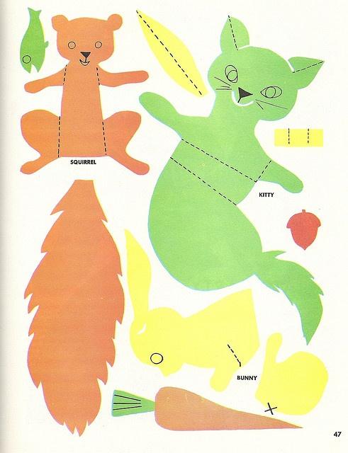 squirrel paper toy