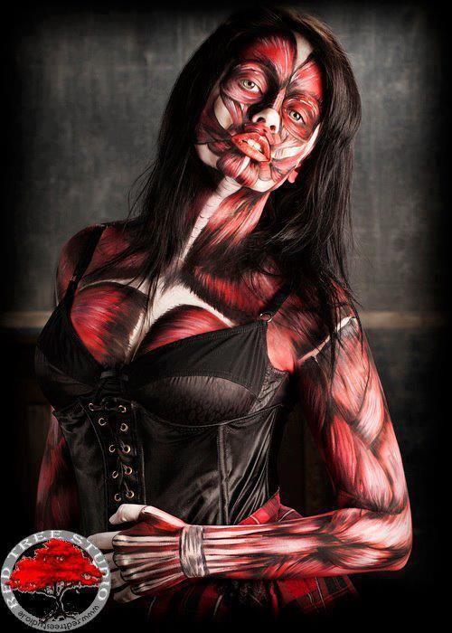 muscle halloween makeup  #halloween #makeup #costume inspiration