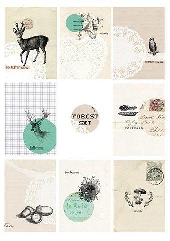 Stationery: Forest Set.