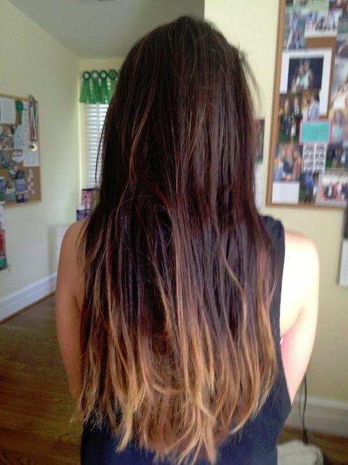 Pretty #dark #ombre #hair!