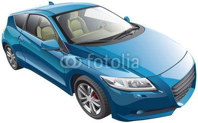 blue sport car © Gennady Poddubny