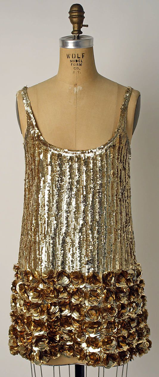 Evening Dress, Geoffrey Beene, ca. 1967, American, plastic and silk