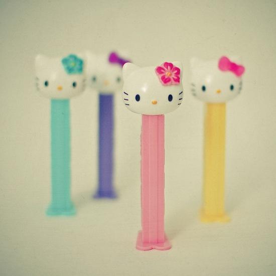 Super Cute Sanrio Hello Kitty Pez Dispensers - pic by Cassia Beck  #hellokitty #cute #kawaii #pez #candy