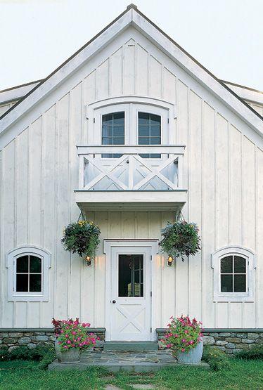 White barn house.
