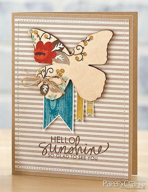 Sunshine & Butterflies Card by @Jaclyn Miller