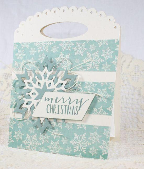 Handmade Gift Bag  Christmas  Merry by EndlessInkHandmade on Etsy, $5.00