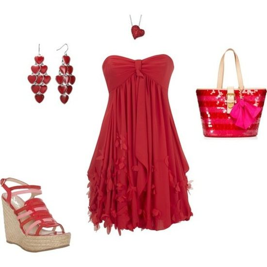 Beautiful Valentine's Day outfit!