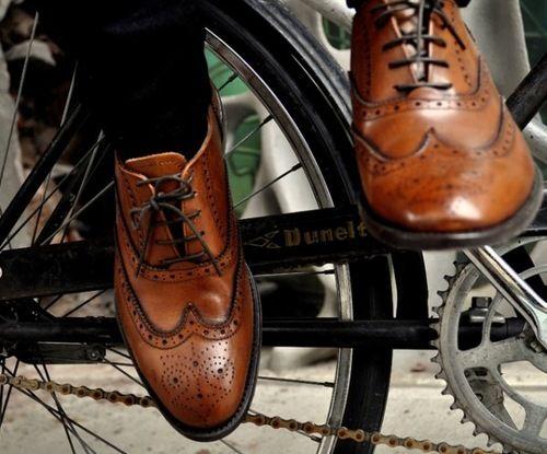 Brogues and bikes -