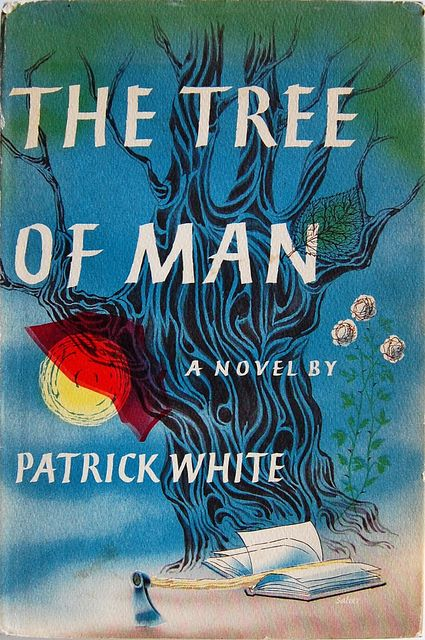 Book cover design by George Salter for The Tree of Man: a Novel by Patrick White. New York: Viking Press, 1955