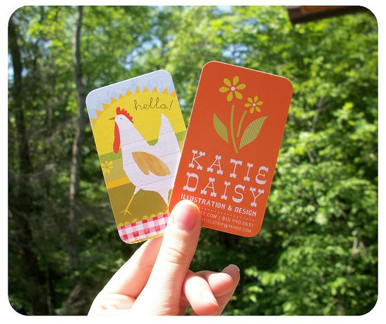 Katie Daisy business cards