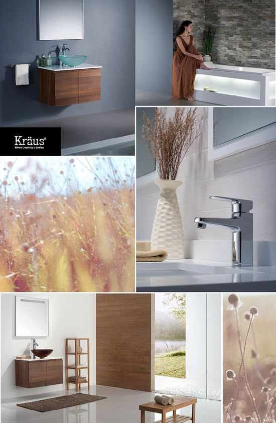 Autumn Inspired Colors for Your Bathroom  #autumn #bathroom #decor #krausUSA