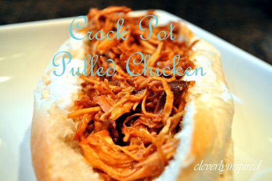 Easy Crock Pot BBQ Chicken!!